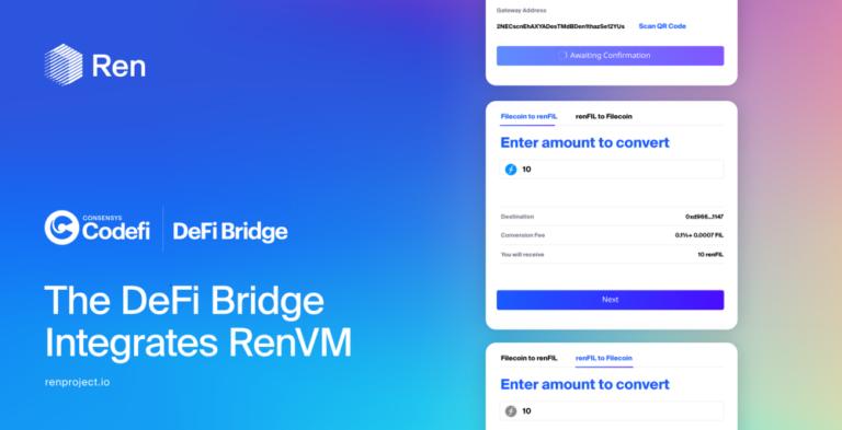 DeFiブリッジがRenVMと接続